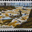 John Wesley Powell Exploring Colorado River — Stock Photo