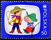 Bambole - eroi del polacco programma tv — Foto Stock