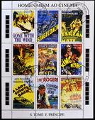 Homenagem ao cinema, mostra de cartazes de cinema — Foto Stock