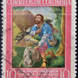 COLOMBI- CIRC1960: stamp printed in Colombishows SIsidro Labrador, patron of farmers, circ1960 — Stock Photo #9181237