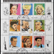 Stock Photo: Stamp printed in Cubdedicated to centenary of cinema