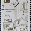 CUB- CIRC1982: stamp printed in Cubhonored Traditional Cubexports shows cement, circ1982 — Stock Photo #9181256