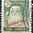 CUBA - CIRCA 1954: A stamp printed in Cuba shows Santa Claus, circa 1954 — Foto Stock #9181295