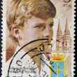 Stock Photo: SPAIN - CIRC1977: stamp printed in Spain shows Prince of Asturias, Felipe de Borbon, heir to crown of Spain, circ1977