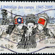 Stock Photo: FRANCE - CIRC2005: stamp printed in France dedicated to liberation of Nazi concentration camps, circ2005