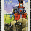 "FRANCE - CIRC2005: stamp printed in France shows image of ""Around World in Eighty Days"" novel by Jules Verne, circ2005 — Stock Photo #9181402"