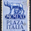 GUATEMALA - CIRCA 1961: A stamp printed in Guatemala shows Capitoline wolf suckled Romulus and Remus, circa 1961 — Stock Photo