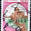 Stock Photo: ITALY - CIRC1980: stamp printed in Italy shows castle rock maggiore, Assisi, italiseries of castles, circ1980