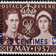 Image of the coronation of George VI with queen Elizabeth — Stock Photo