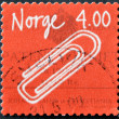 Norwegian Inventions, Self-adhesive, Paper clip (Johan Vaaler) — Stock Photo