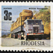 RHODESIA - CIRCA 1980: A stamp shows image celebrating road transport, circa  1980 - Stock Photo
