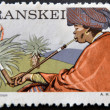 Stock Photo: REPUBLIC OF SOUTH AFRIC- CIRC1976: stamp printed in Transkei shows transkei matron, circ1976