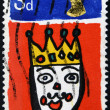 Royalty-Free Stock Photo: UNITED KINGDOM - CIRCA 1966: A stamp printed in England, shows St. King of the morning the country, Christmas, circa 1966