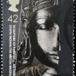 Stock Photo: UNITED KINGDOM - CIRC2003: stamp printed in Great Britain shows sculpture of Parvati