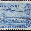 Royalty-Free Stock Photo: UNITED STATES OF AMERICA - CIRCA 1947: A stamp printed in the USA shows image of the Golden Gate Bridge, circa 1947