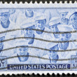 UNITED STATES OF AMERICA - CIRCA 1945: A stamp printed in the USA shows US Navy, circa 1945 - Stock Photo