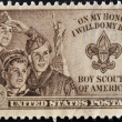 UNITED STATES OF AMERICA - CIRCA 1953 : stamp printed in USA show Boy Scouts of America, circa 1953 — Stock Photo #9182144