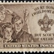 UNITED STATES OF AMERICA - CIRCA 1953 : stamp printed in USA show Boy Scouts of America, circa 1953 — Zdjęcie stockowe