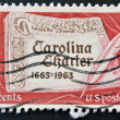 UNITED STATES OF AMERICA - CIRCA 1963: a stamp printed in USA shows First Page of Carolina Charter, circa 1963 — Stock Photo #9182181