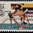 Los Angeles Olympics 1984 issue, showing Bicycling — Stock Photo #9182202