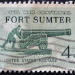 Stock Photo: UNITED STATES OF AMERICA - CIRCA 1961: A stamp printed in the USA shows Civil War Centennial Fort Sumter, circa 1961