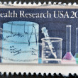 Stock Photo: UNITED STATES OF AMERICA - CIRCA 1984: A stamp printed in USA dedicated to health research, circa 1984