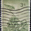 UNITED STATES OF AMERICA - CIRCA 1945 : A stamp printed in the USA shows Iwo Jima, circa 1945 — Stock Photo