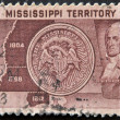 Stock Photo: US- CIRC1948: stamp printed in USdedicated to mississippi territoy showing Winthrop Sargent, circ1948