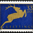Stamp shows image of dedicated to Greetings — Stock Photo #9182650