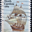 Roanoke Voyages North Carolina 1584 — Stock Photo