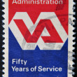 Stock Photo: Veterans Administration Emblem, 50th anniversary of Service