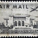 Plane over Pan American Union Building, Washington, DC — Stock Photo