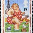 Bather at Blackpool (Pictorial Postcards 1894-1994) — Stock Photo