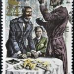 Постер, плакат: Sherlock Holmes and Lestrade in the six napoleons