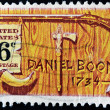 Daniel Boone a frontiersman and trapper - Stock Photo