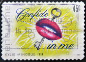 Stamp dedicated to Kylie Minogue — Stock Photo