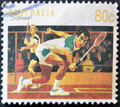 A stamp printed in Australia dedicated to squash — Stock Photo
