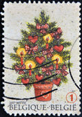 BELGIUM - CIRCA 1997: A stamp printed in Belgium shows christmas tree, circa 1997 — Stock Photo