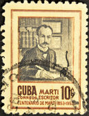 CUBA - CIRCA 1955: A stamp printed in Cuba shows Jose Marti, circa 1955 — Stock Photo