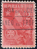 CUBA - CIRCA 1940: A stamp printed in Cuba dedicated to plant to snuff, circa 1940 — Stock Photo