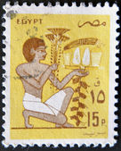 EGYPT - CIRCA 1970: A stamp printed in Egypt shows Egyptian painting — 图库照片