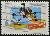 FRANCE - CIRCA 2009: A stamp printed in France shows Wile E. Coyote and the Road Runner, Looney Tunes, circa 2009 — Stock Photo