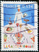FRANCE - CIRCA 2005: A stamp printed in France dedicated to French gastronomy, circa 2005 — Stock Photo