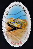 FRANCE - CIRCA 2005: A stamp printed in France dedicated to the rallies, circa 2005 — Foto Stock