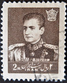 IRAN - CIRCA 1959: A stamp printed in Iran shows Mohammad Reza Pahlavi, circa 1959 — Stock Photo