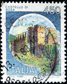 ITALY - CIRCA 1980: A stamp printed in Italy, shows Castles Bosa, Italian series of castles , circa 1980 — Stock Photo