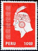 The face of an Inca Indian — Stock Photo
