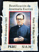 Saint Josemaria Escriva de Balaguer was a Roman Catholic priest from Spain who founded Opus Dei — Foto Stock