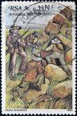 Transkei shows the battle of Amajuba — Stock Photo