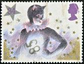 Pantomime Cat commemorative odd value — Stock Photo